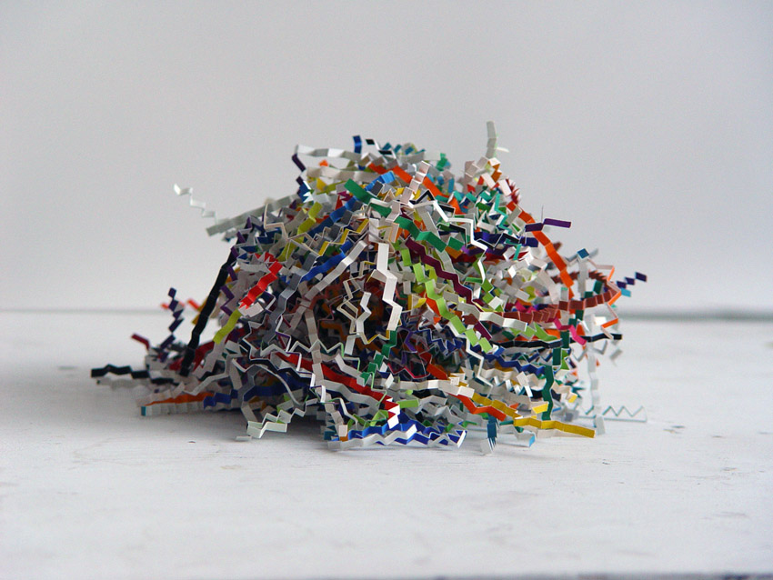 Fizz I,  2010, color aid paper, dimensions variable. Image courtesy of Patricia Zarate.