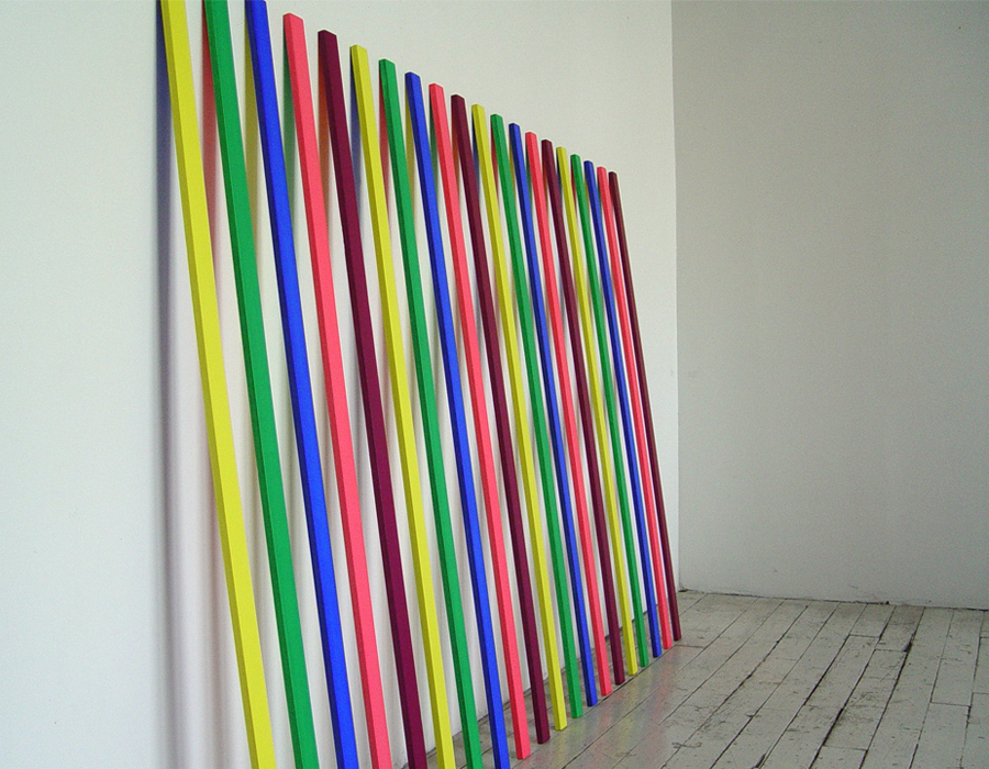 """Six,  2008, acrylic on wood, 48""""x 72"""" x 1/2"""", from the series  leaning (paintings).  Image courtesy of Patrica Zarate."""