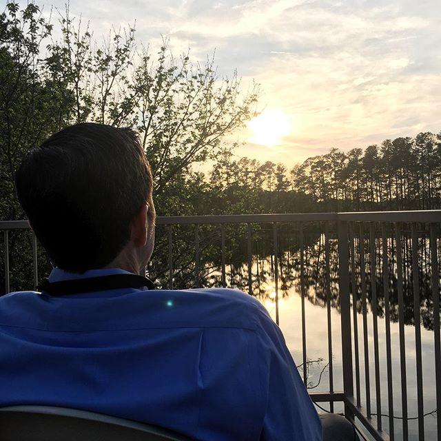 """Enjoying sunset after an """"event""""full week!"""