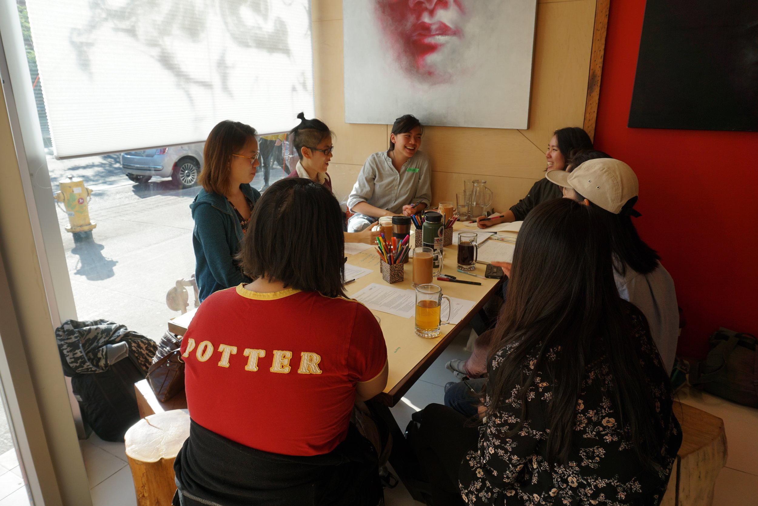 burden(some) Workshop A at Crimson Teas, ph. Karina García