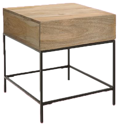 Industrial Storage Side Table - $299