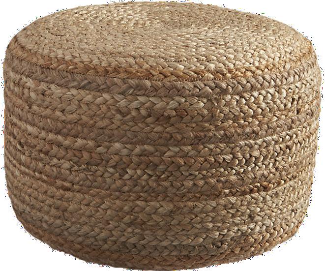 Braided Hemp Pouf - $79.95