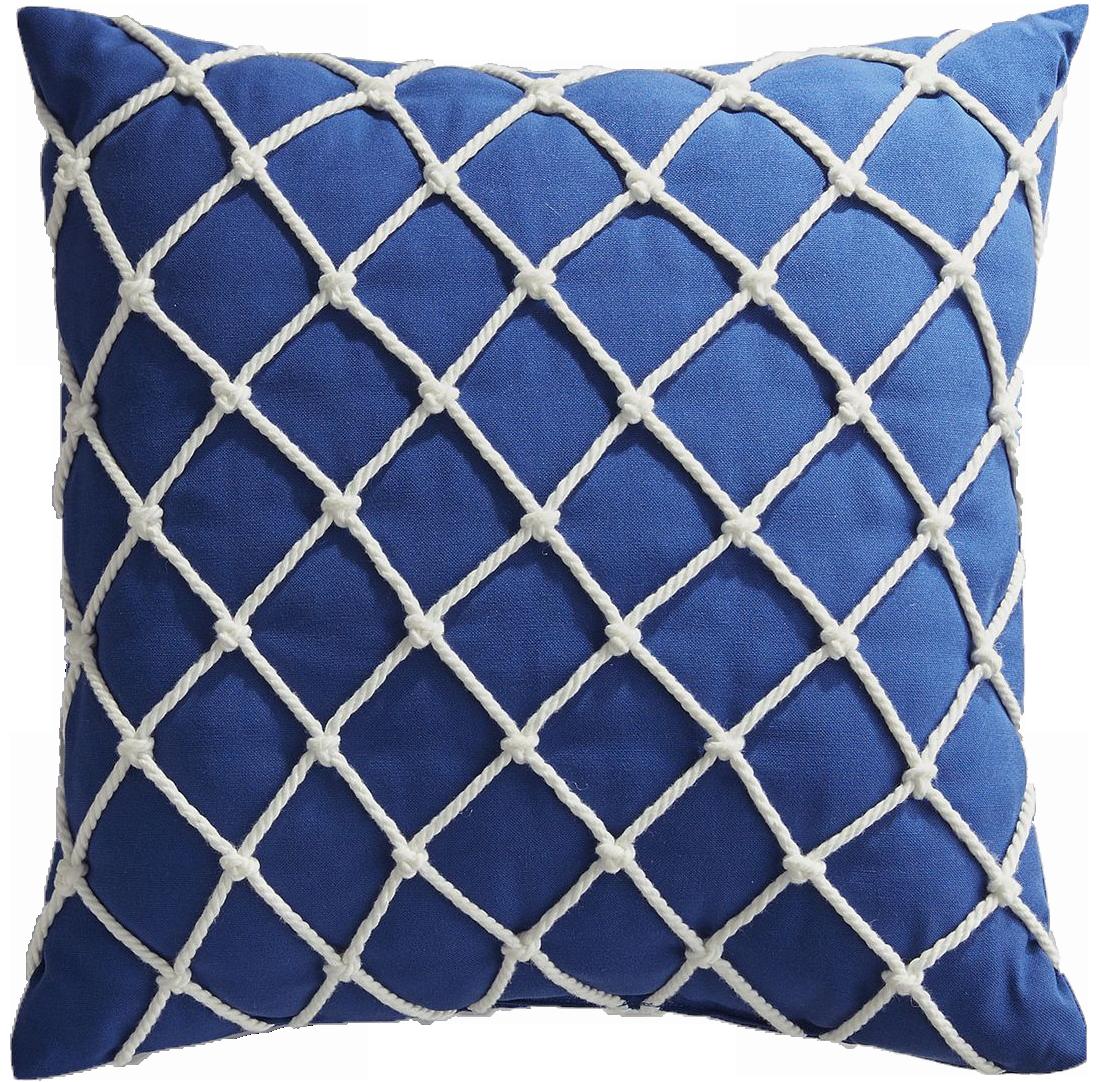Fishnet Cobalt Pillow - $25