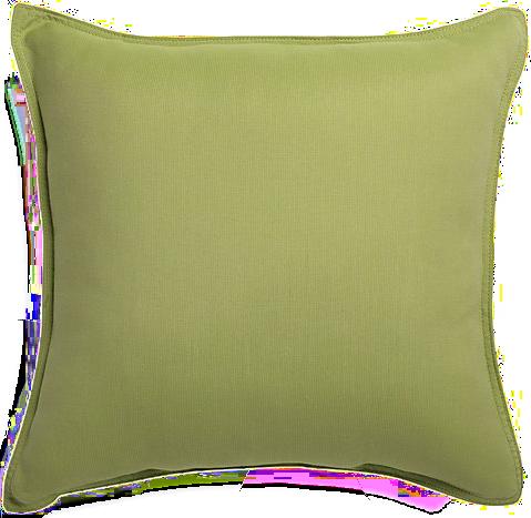"Sunbrella ® Kiwi Green 20"" Sq. Outdoor Pillow - $44.95"