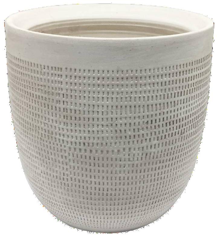 "9.5"" Ceramic Planter, White - $22.99"