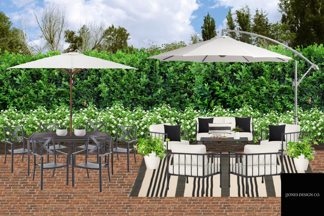 Hampton Inspired Backyard Patio