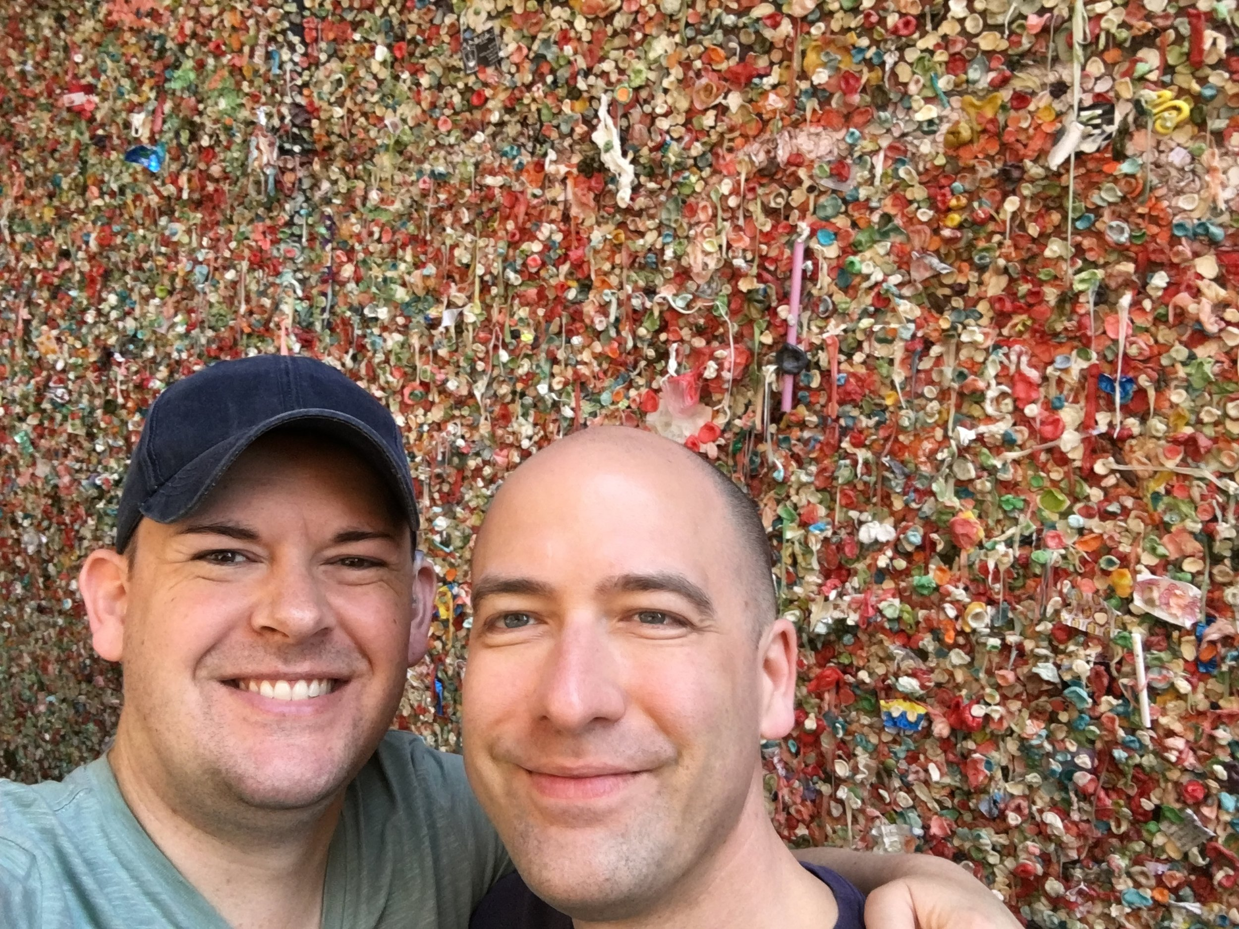 Joshua and Jeffry at the Gum Wall