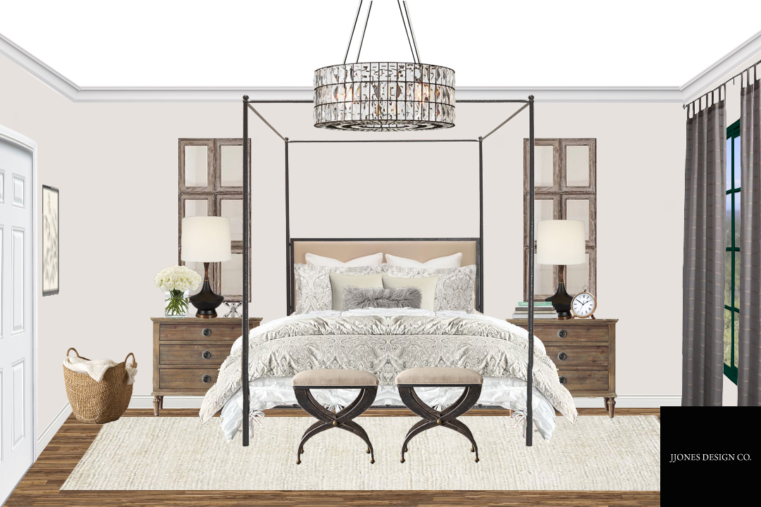 Rustic Glam Style Master Bedroom