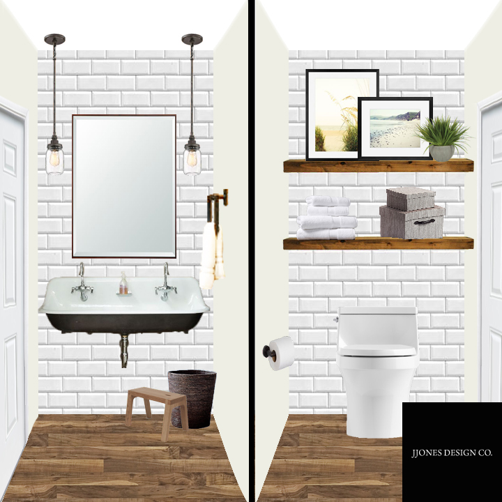 Farmhouse Style Powder Room