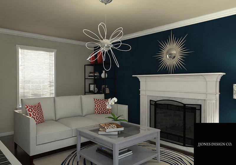 Living Room Rendering E-Design