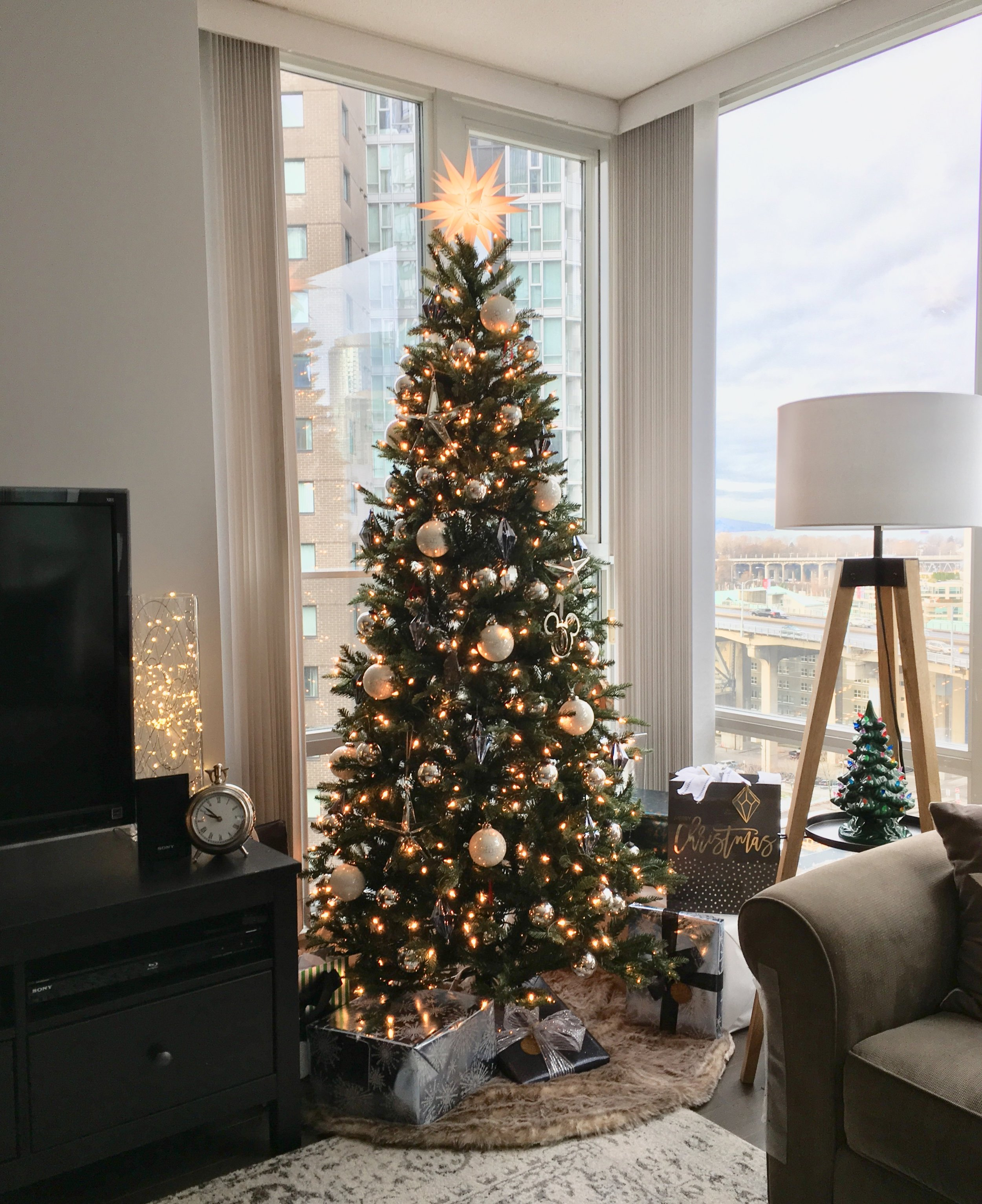 Our Christmas tree in our living room.