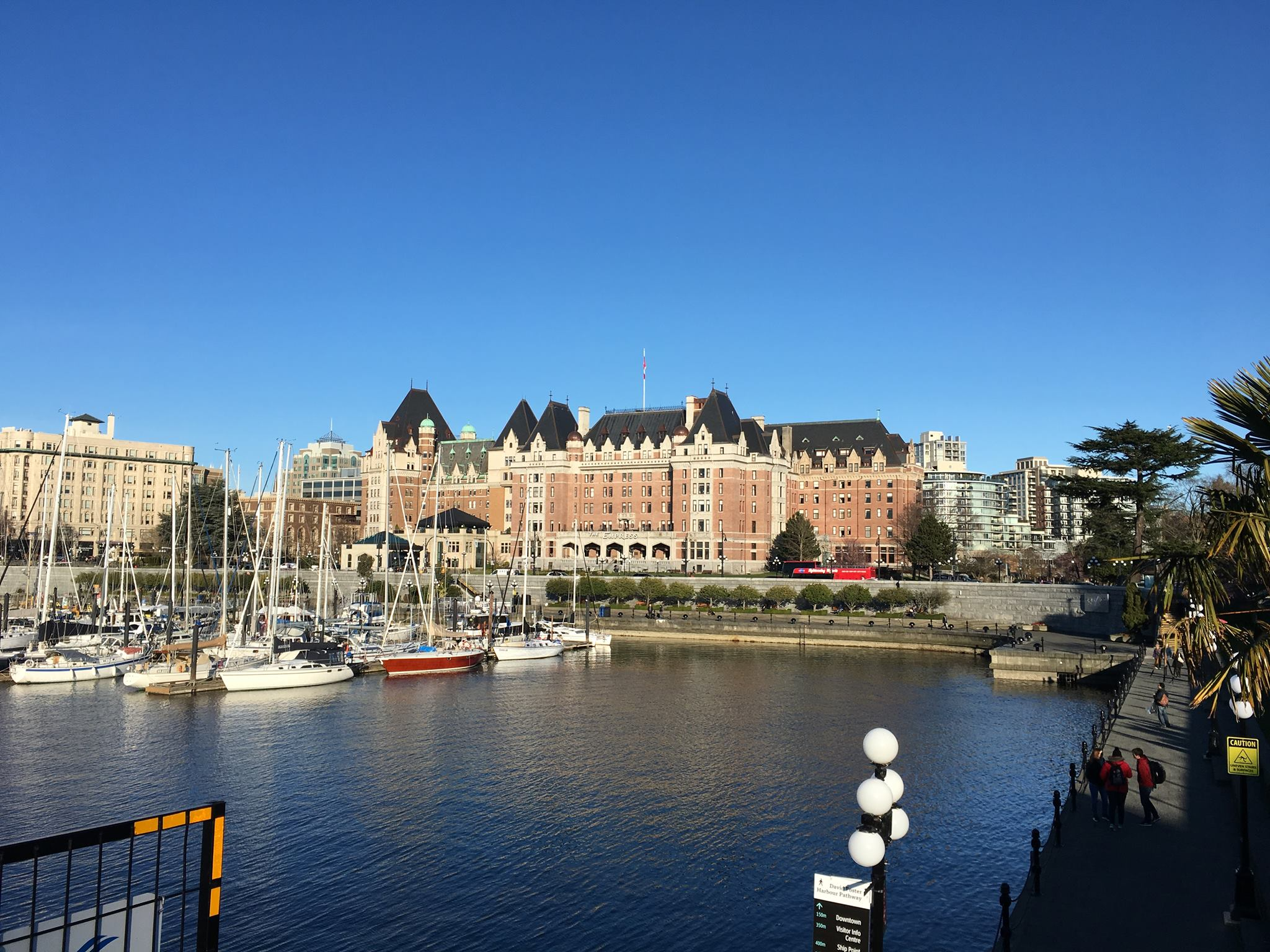 The view of the Fairmont Empress Hotel