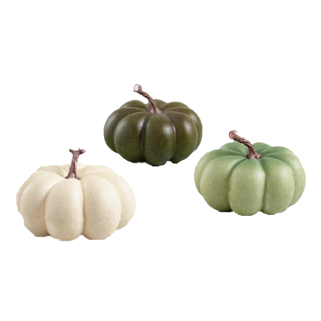 Medium Ivory and Green Faux Heiloom Pumpkins Set of 3 copy.png