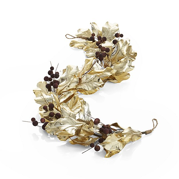 Gold Magnolia Garland with Mauve Berries.jpg