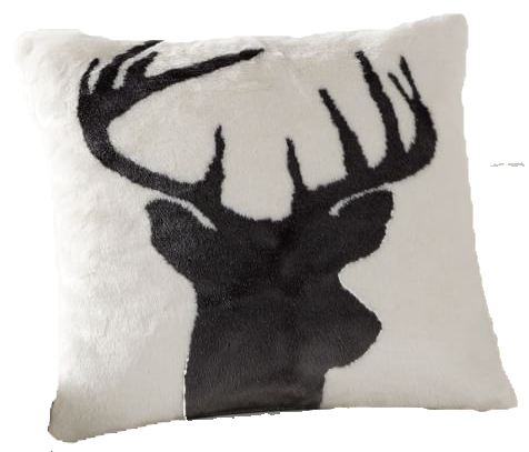 Faux Fur Stag Printed Pillow Cover copy.png