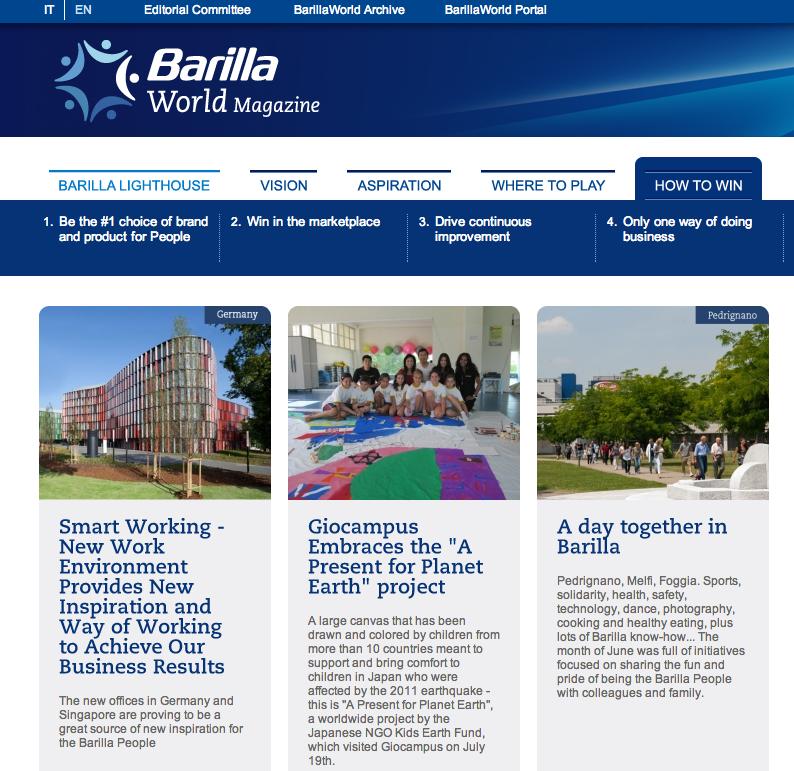 Barilla World intranet
