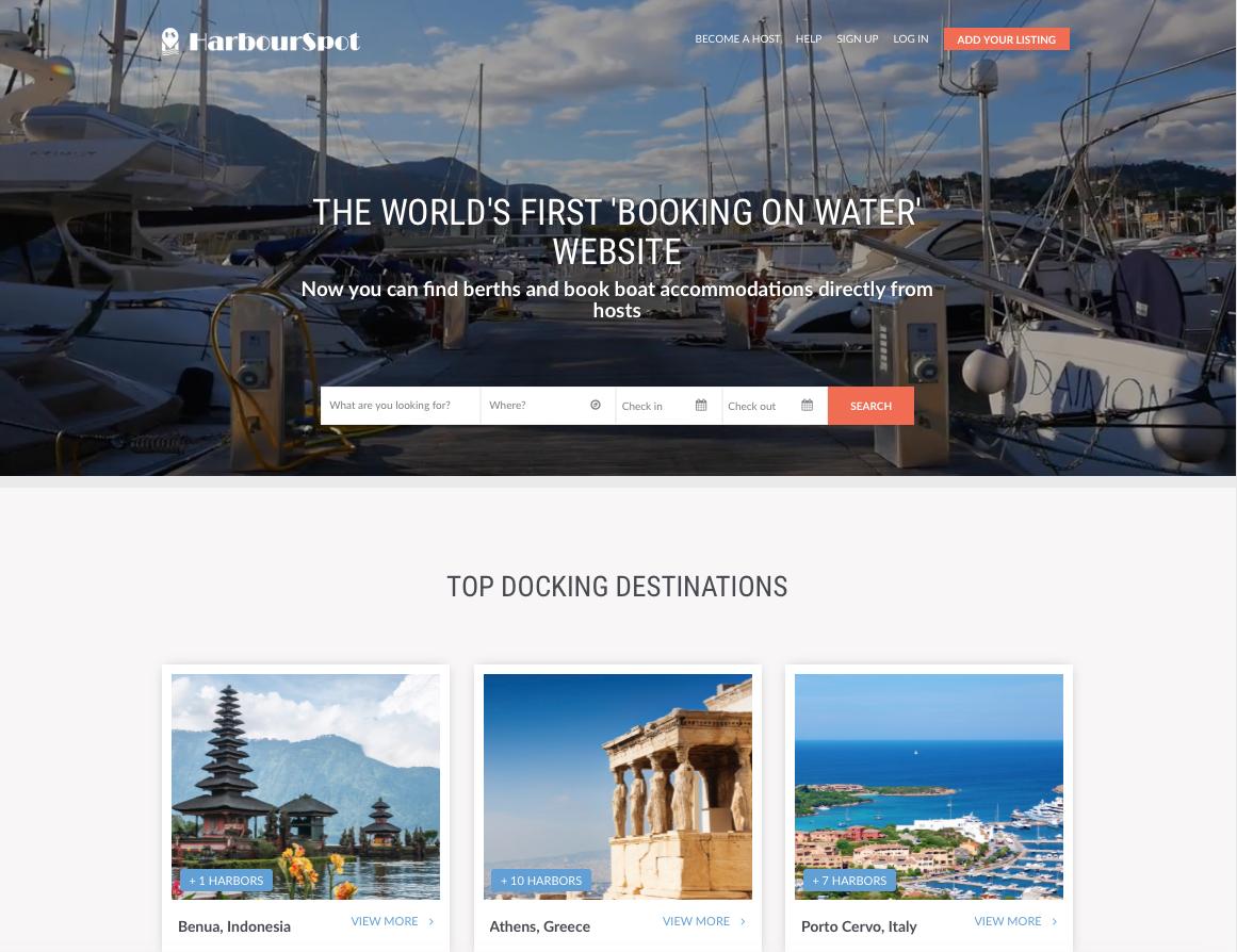 HarbourSpot website