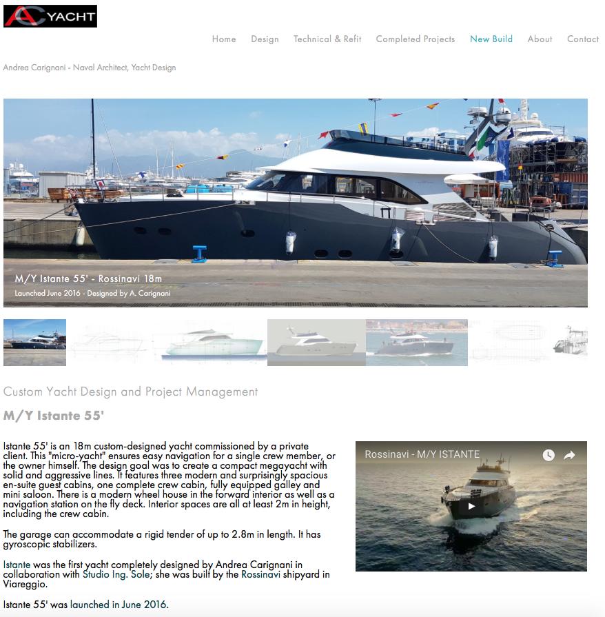 AC Yacht Design website