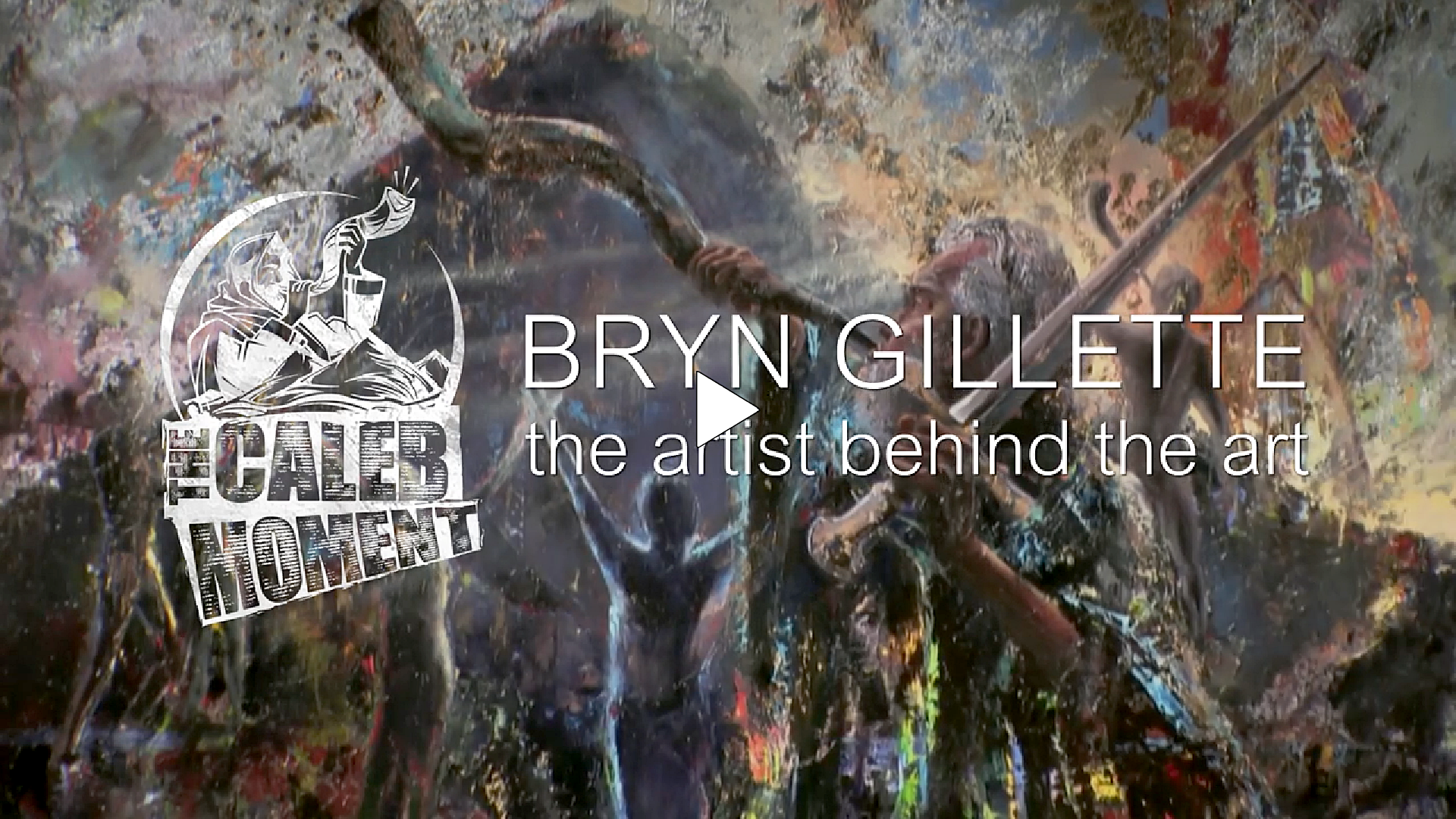 "Bryn Gillette - the artist behind the art ""Give me This Mountain"" Music by Graham Kendrick"