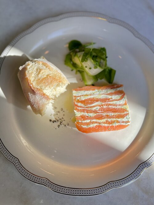 Smoked Salmon Terrine with Creme Cheese