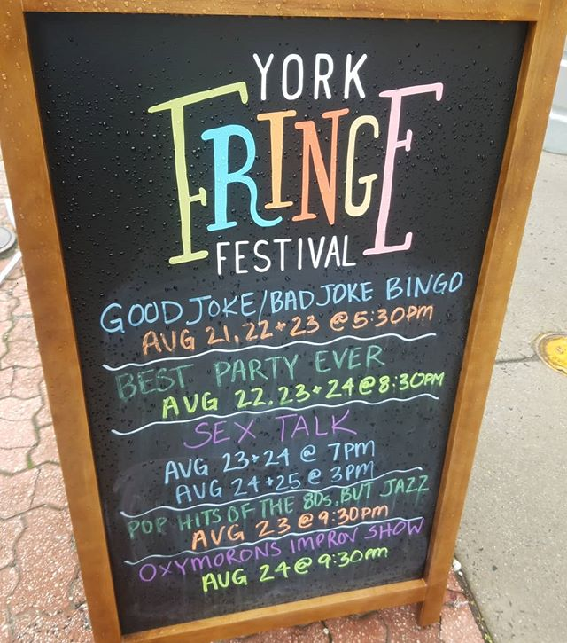 We made the sandwich board! @yorkfringefest #sextalktheshow