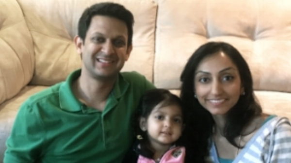 Drs.  Vibhav and Sonal Rangarajan and Their daughter, Radha