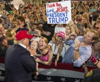 Prosperity Gospelers Cheering On Their Messiah