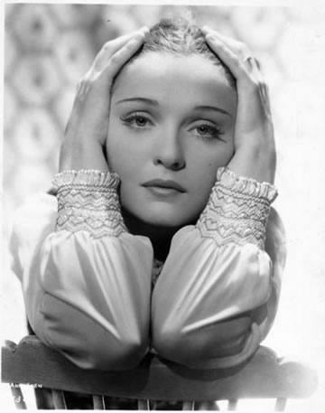Anna Sten in a Typical Garbo Pose