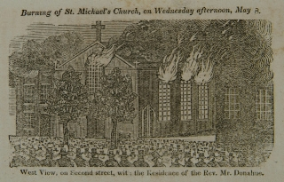 The Burning of St. Michael's Church