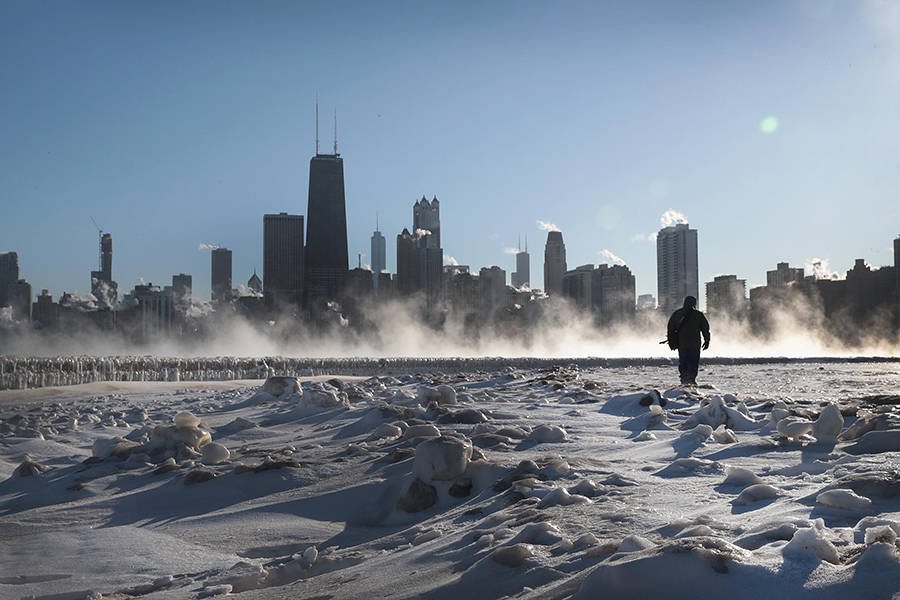 Walking Across Lake Michigan