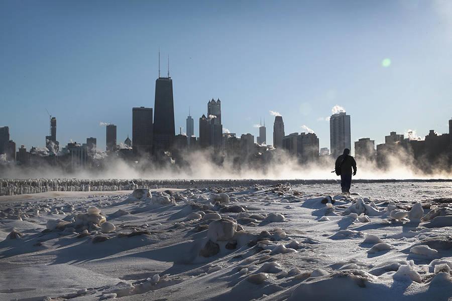 Walking Across Lake Michigan