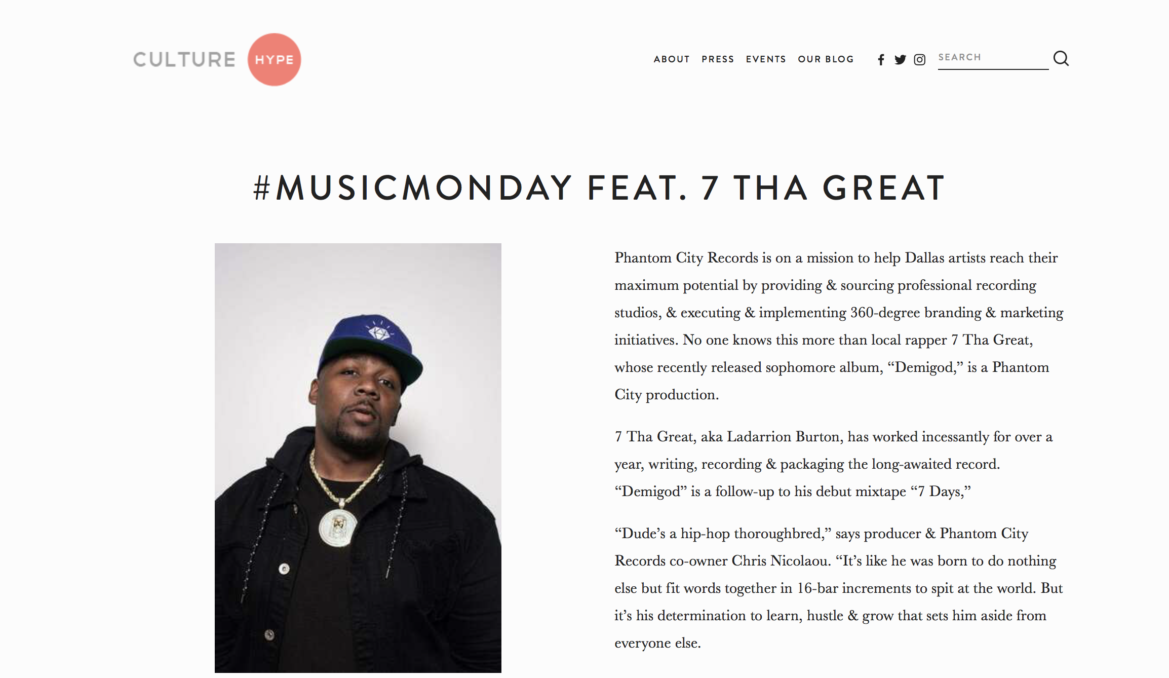 Read full article www.culture-hype.com/all-blog-posts/2019/2/20/musicmonday-feat-7-tha-great