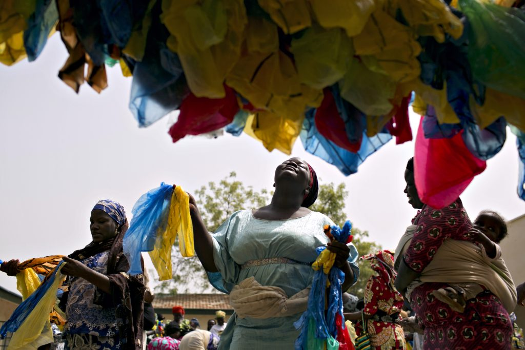Women in Nigeria are crocheting plastic bags -