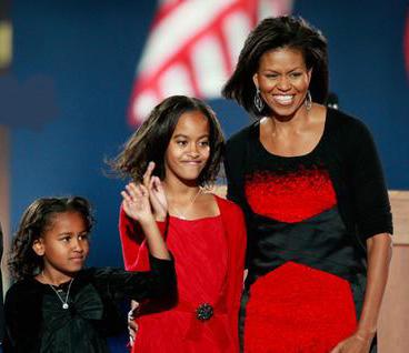 Sasha, Malia, Michelle Obama