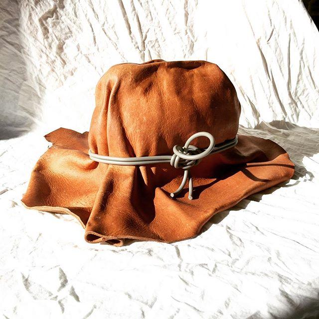 . . . contemporary cowboy #prototype #design #designprocess #experimental #inthestudio #leatherworking #contemporarydesign #bradleylbowers