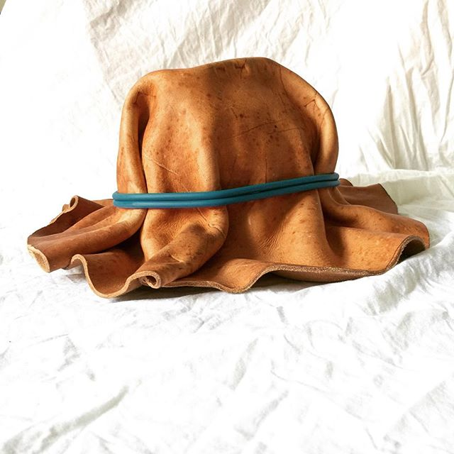 . . . 2.0 #contemporarydesign #designprocess #design #leatherworking #experimental #hatmaking #inthestudio #bradleylbowers
