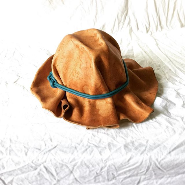 . . . 2.0 #experimental #inthestudio #designprocess #contemporarydesign #hatmaking #leatherworking #experimental #bradleylbowers