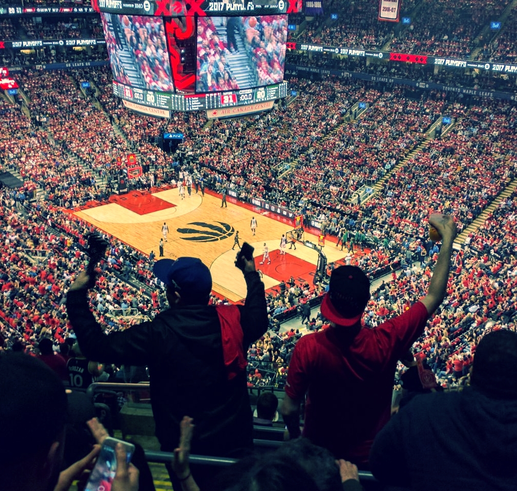 TORONTO RAPTORS FANS FINALLY HAVE SOMETHING TO CHEER FOR WITH WITH A DOMINATING WIN IN GAME 5 OVER THE MILWAUKEE BUCKS, 118-93.