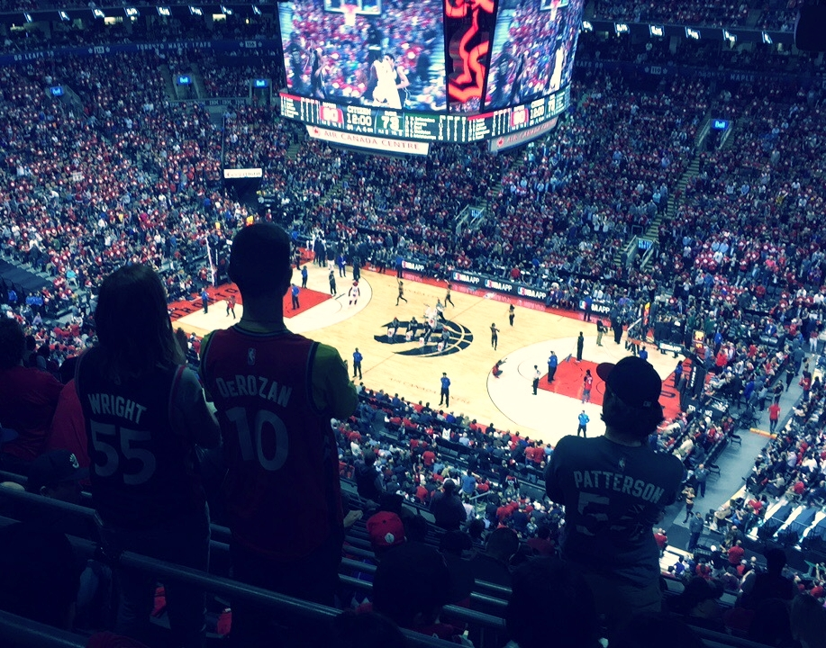 THE TORONTO RAPTORS COME HOME TO PLAY THE CLEVELAND CAVALIERS TRAILING 0-2 IN THE SERIES.