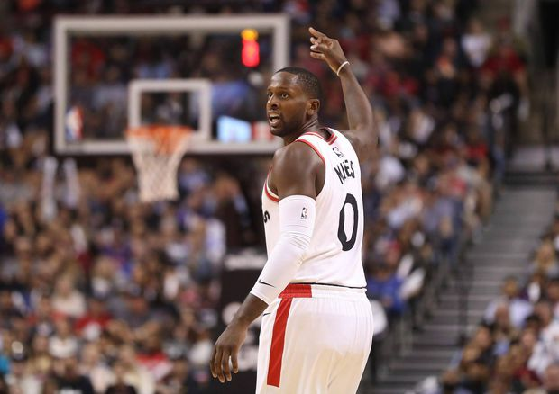 CJ MILES MAKES HIS DEBUT TO THE AIR CANADA CENTRE WITH A VICTORY OVER THE DETROIT PISTONS IN RAPTORS' PRE-SEASON GAME.