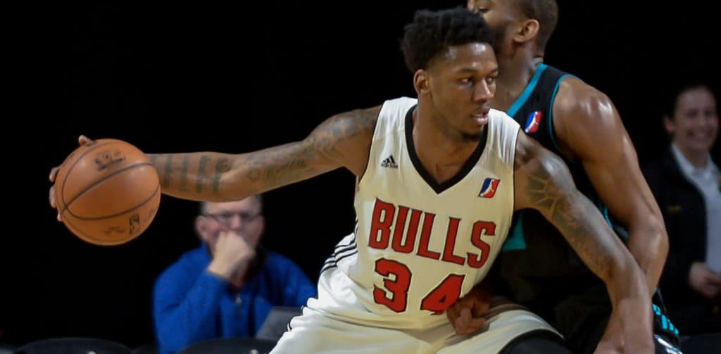 ALFONZO MCKINNIE PLAYED 1 YEAR WITH THE WINDY CITY BULLS AND IT WAS THEN HE CAPTURED THE ATTENTION OF THE RAPTORS ORGANIZATION. Image:The Athletic