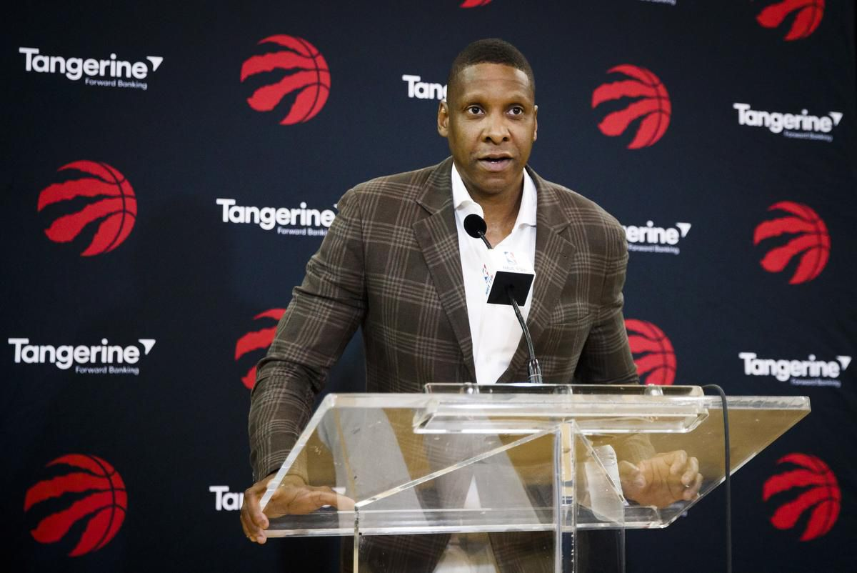 July 20, 2018 - Getty Images: Masai Ujiri addresses the media following the trade for Kawhi Leonard