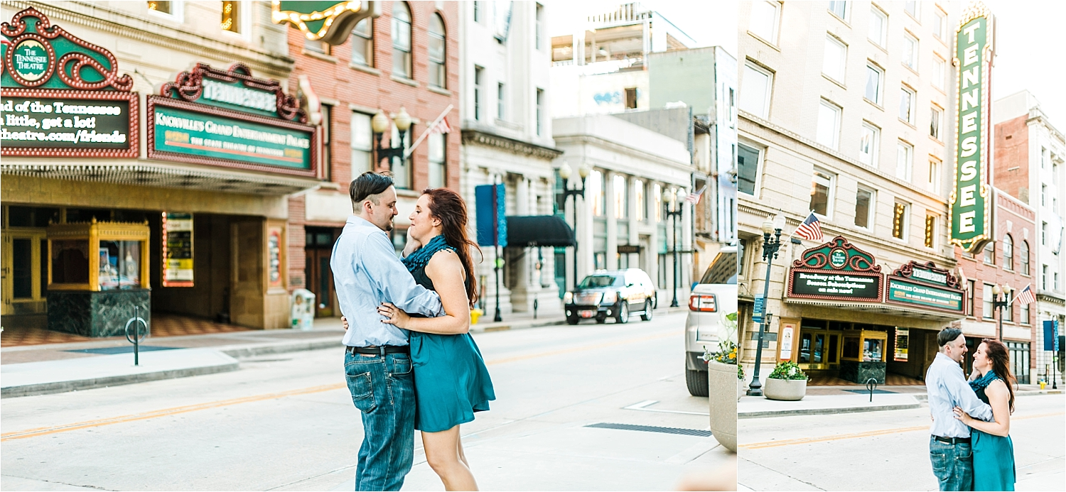 tennessee theatre engagement session knoxville