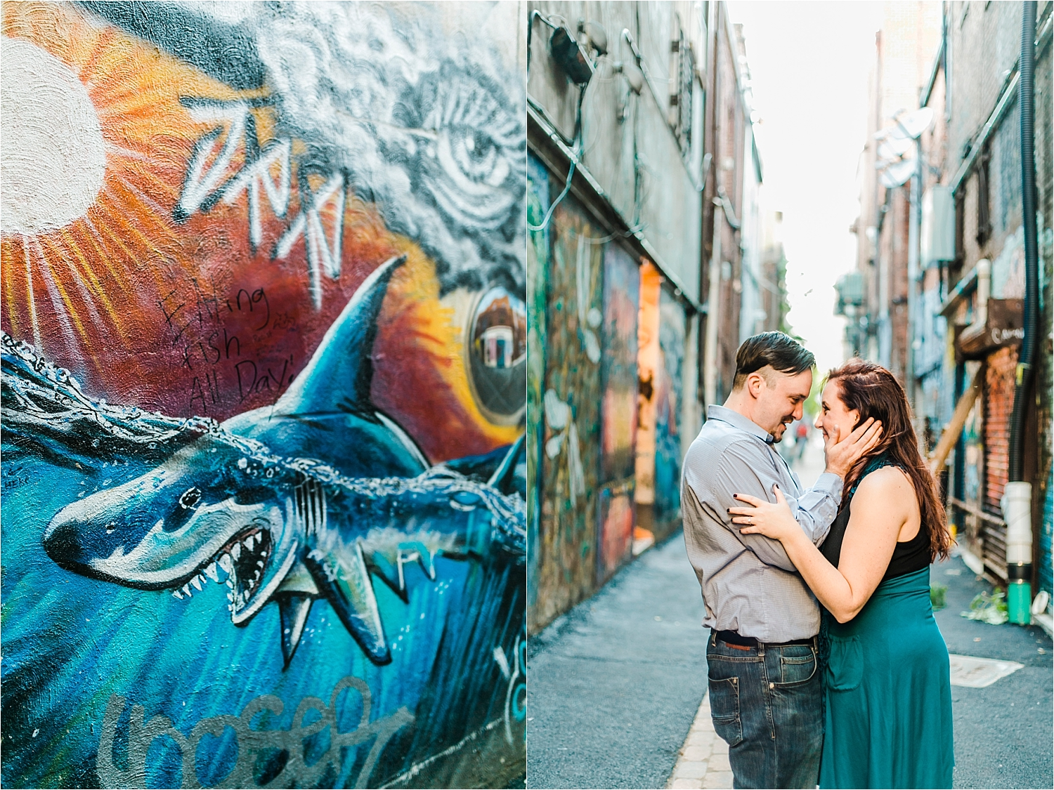 art alley engagement session knoxville