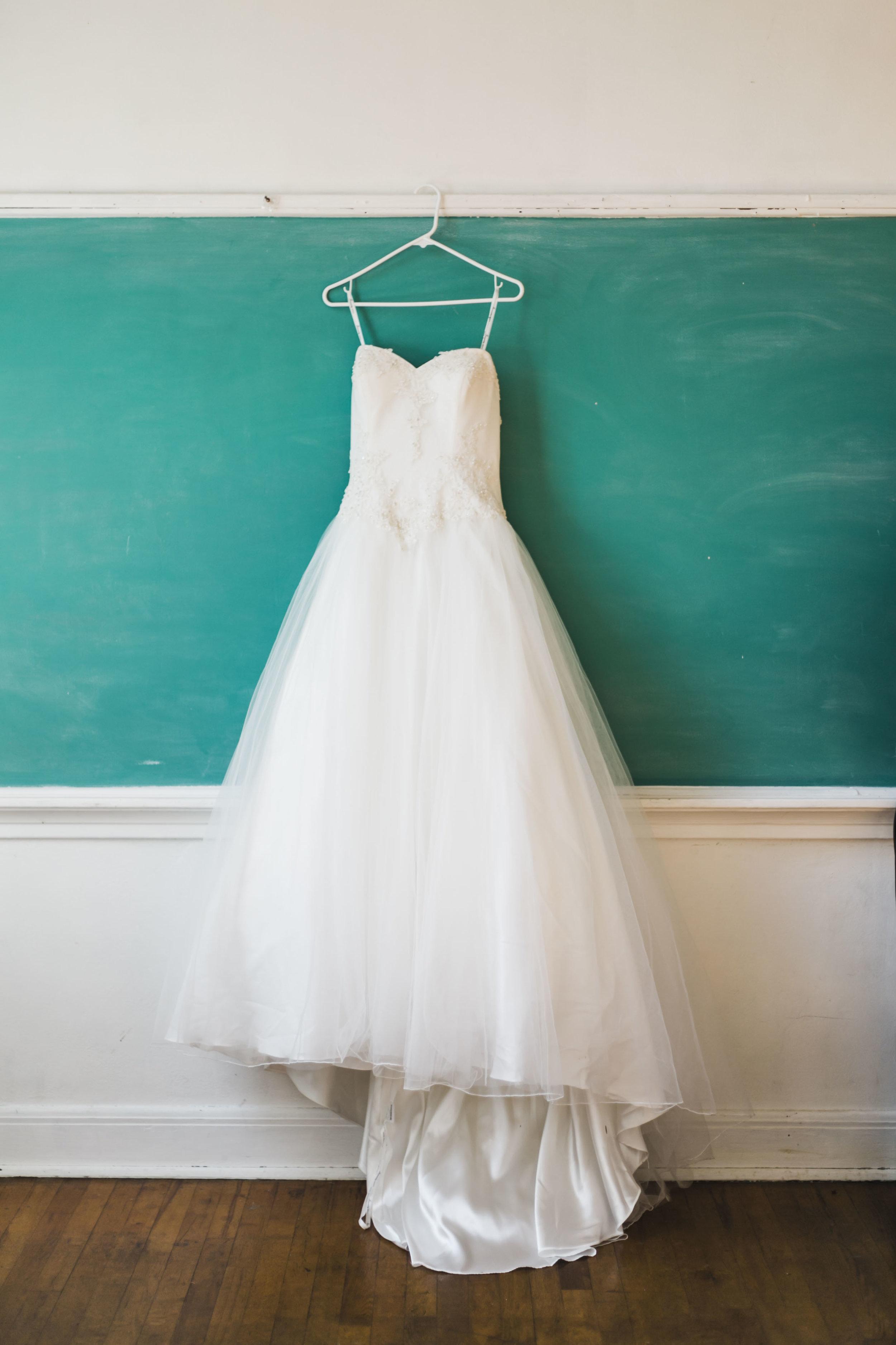 Riverdale School Wedding Knoxville Chalkboard wedding dress