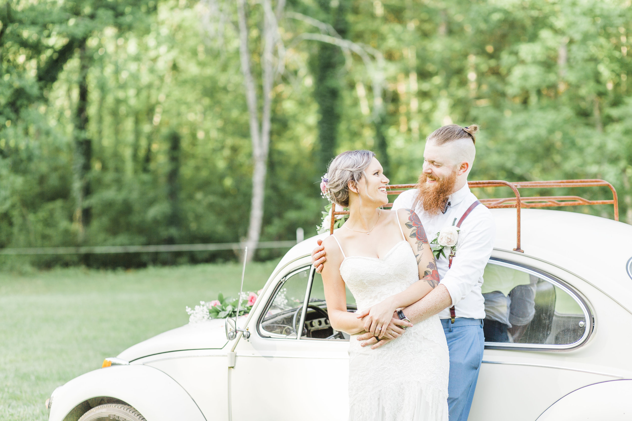 Backyard wedding volkswagen