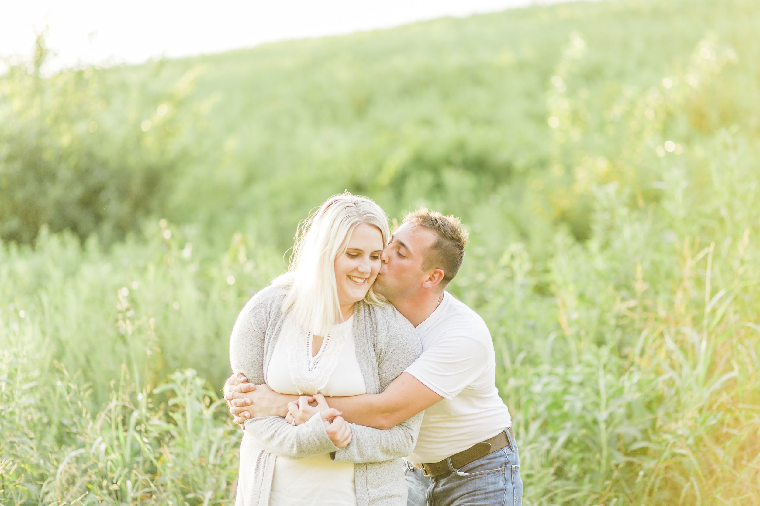 natural joyful engagement photos knoxville photographers field
