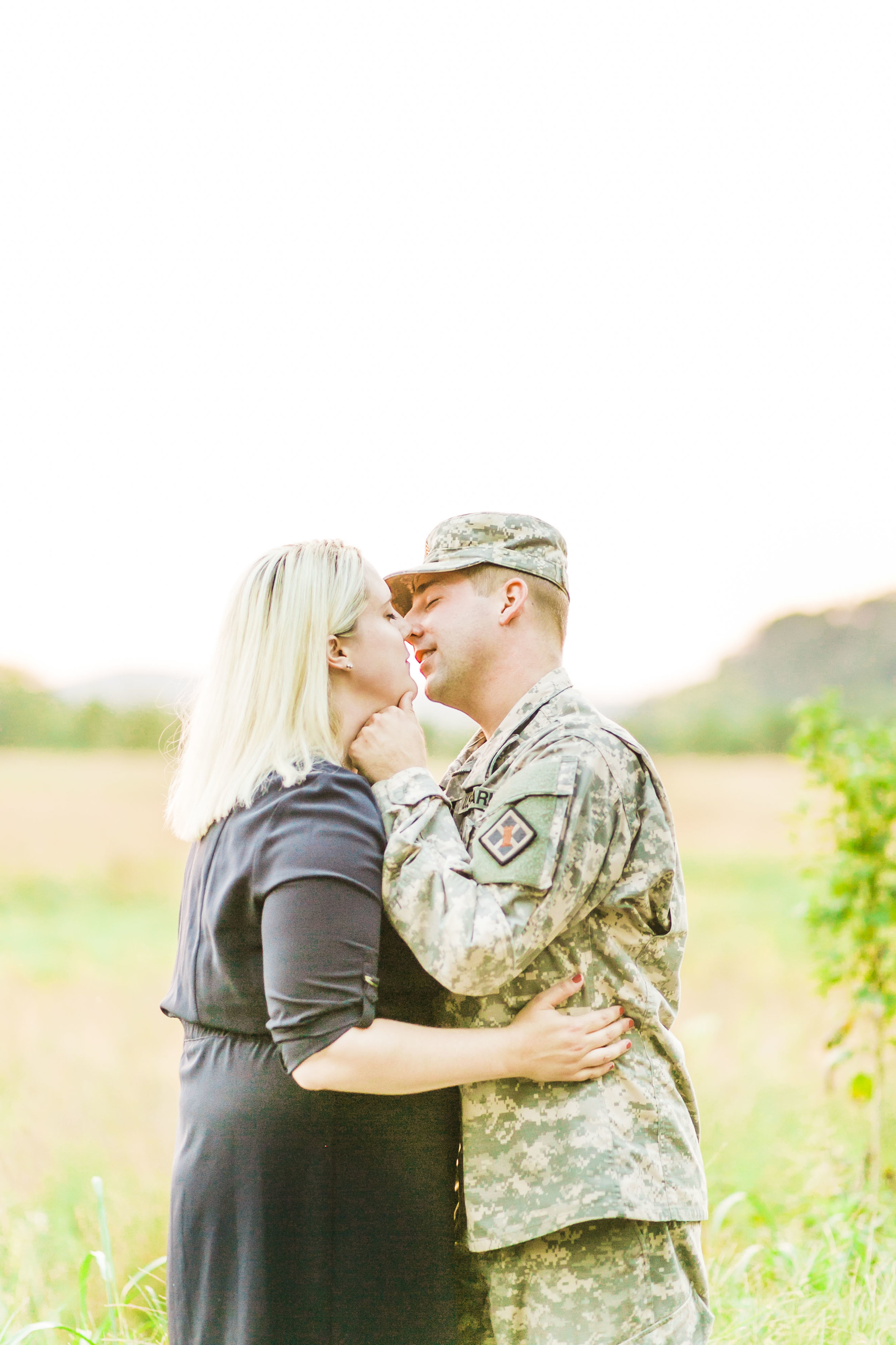 Knoxville engagement photos military fatigues