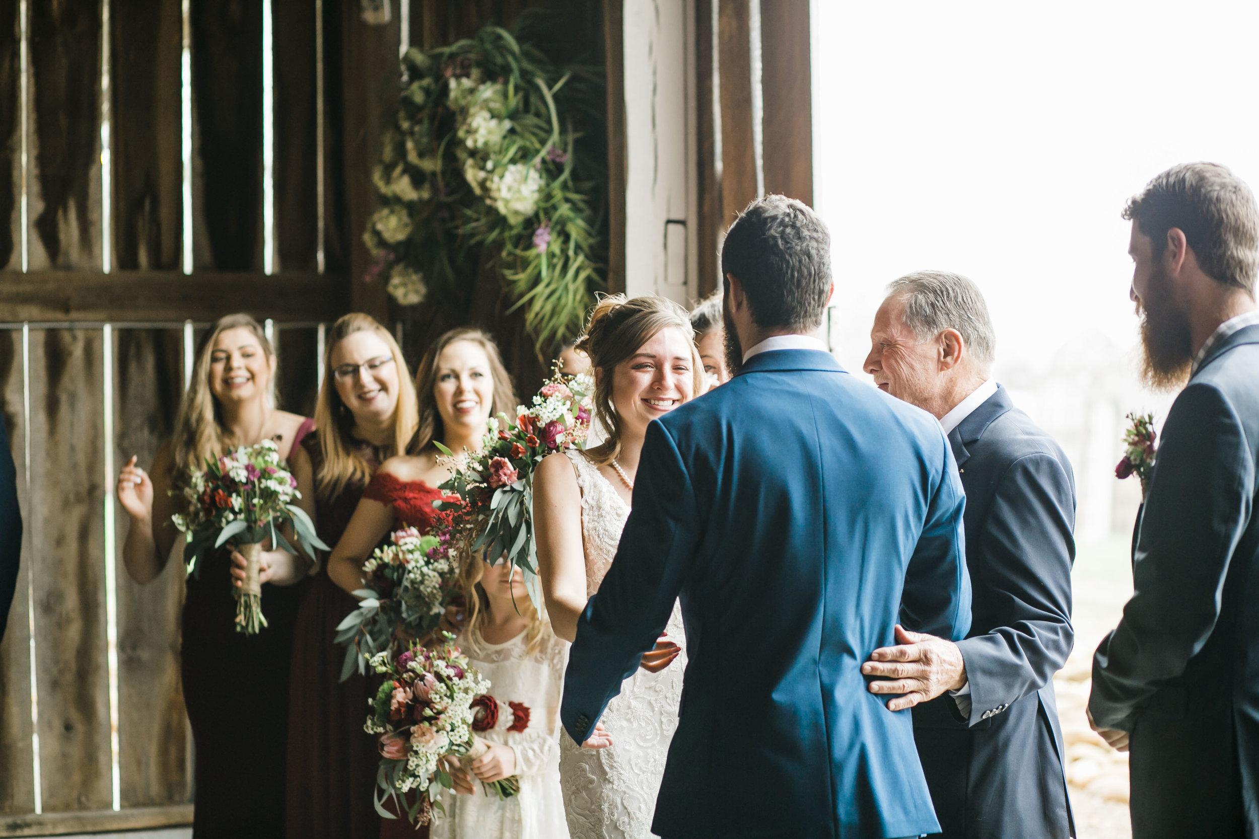 Heartland Meadows Knoxville Barn Wedding Rainy
