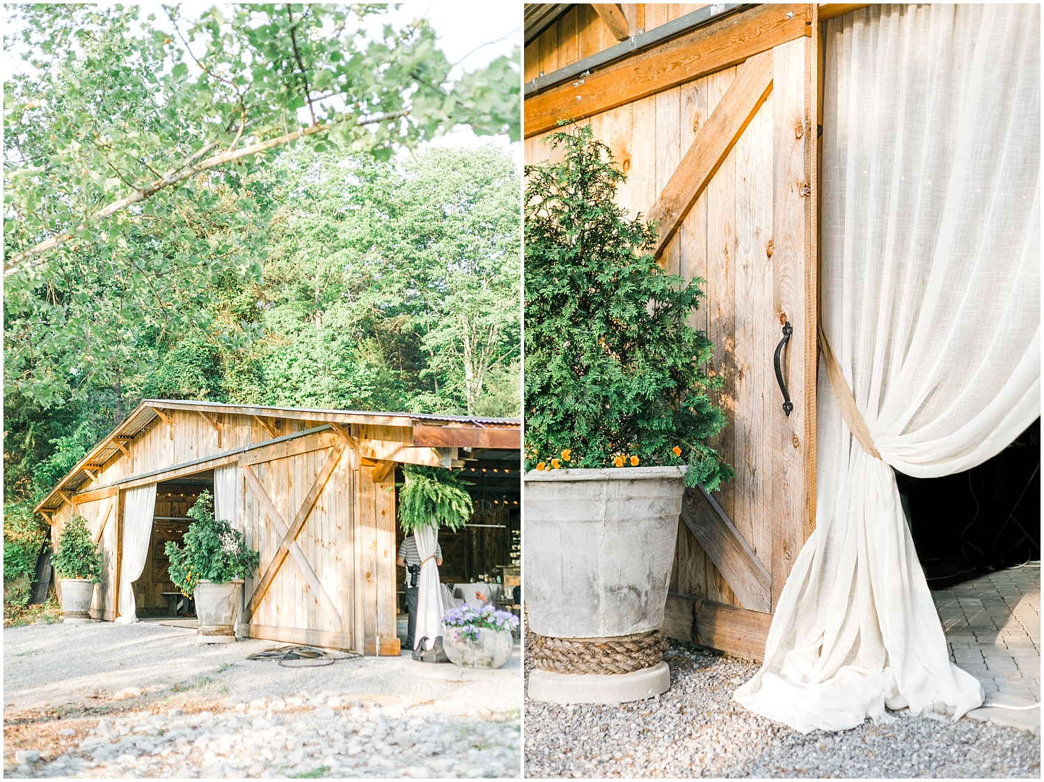 barn at buttermilk wedding knoxville
